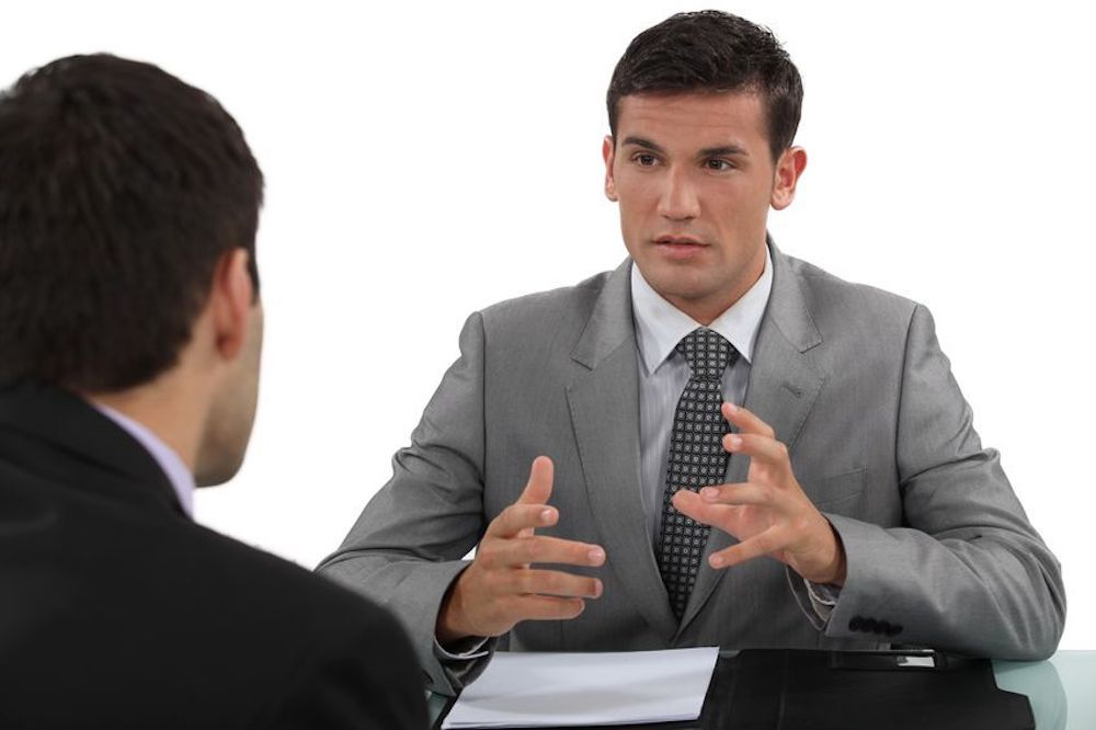 Effective body language in a job interview